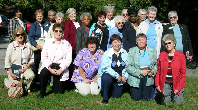 Holy Ghost Ladies of Charity on a day retreat at Loyola Retreat House, Faulkner, Maryland