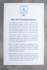 LCUSA Act of Consecration Prayer Card (Large)