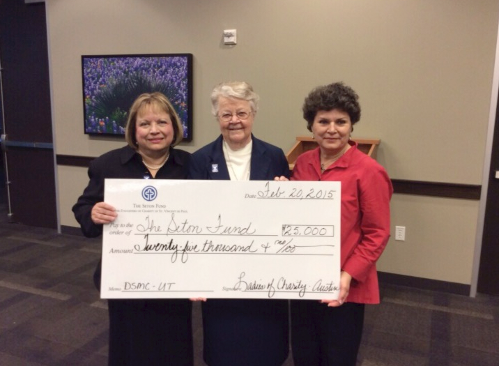 The Ladies of Charity of Austin donate $25,000 to the Seton Fund