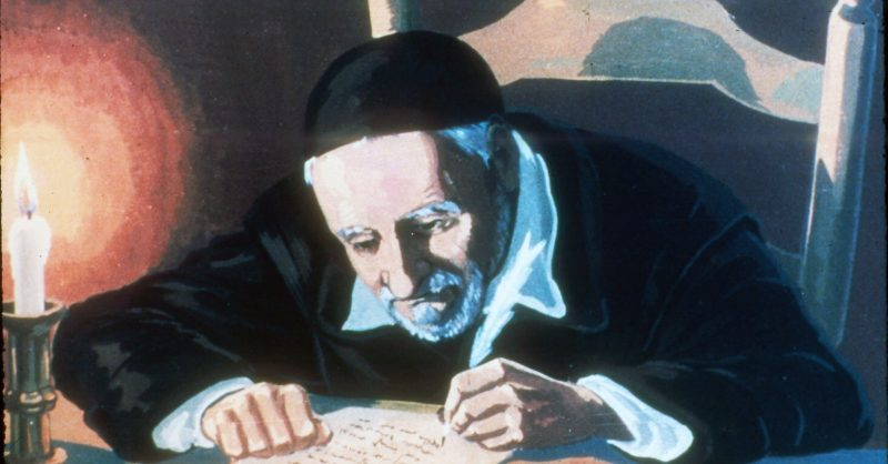 Vincent at his writing desk